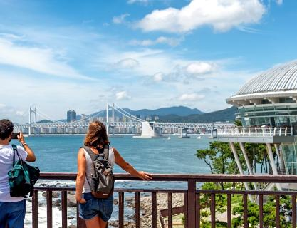 Walk along the sea and mountain of Busan