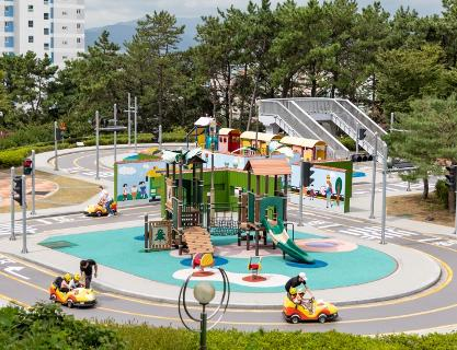 Gupo Children's Traffic Safety Park aims to educate children about traffic safety.
